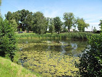 Village green - A large green in the village of Pritzhagen, Germany