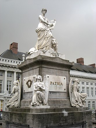 Place des Martyrs, Brussels - Image: Pro Patria monument, Brussels IMG 4495