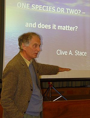 Clive A. Stace - Professor Clive Stace, author of the New Flora of the British Isles,  lecturing to members of Derby Natural History Society in April 2005.