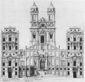 François d'Orbay - Project for Trinità dei Monti in Rome, 1660