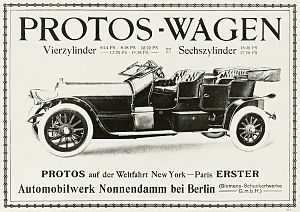 Protos of Nonnendamm - Typ E1 advert in 1908