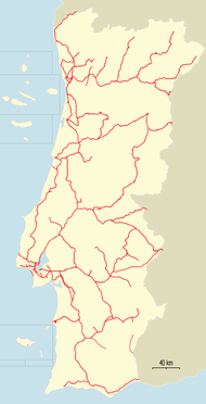 Railway map Portugal