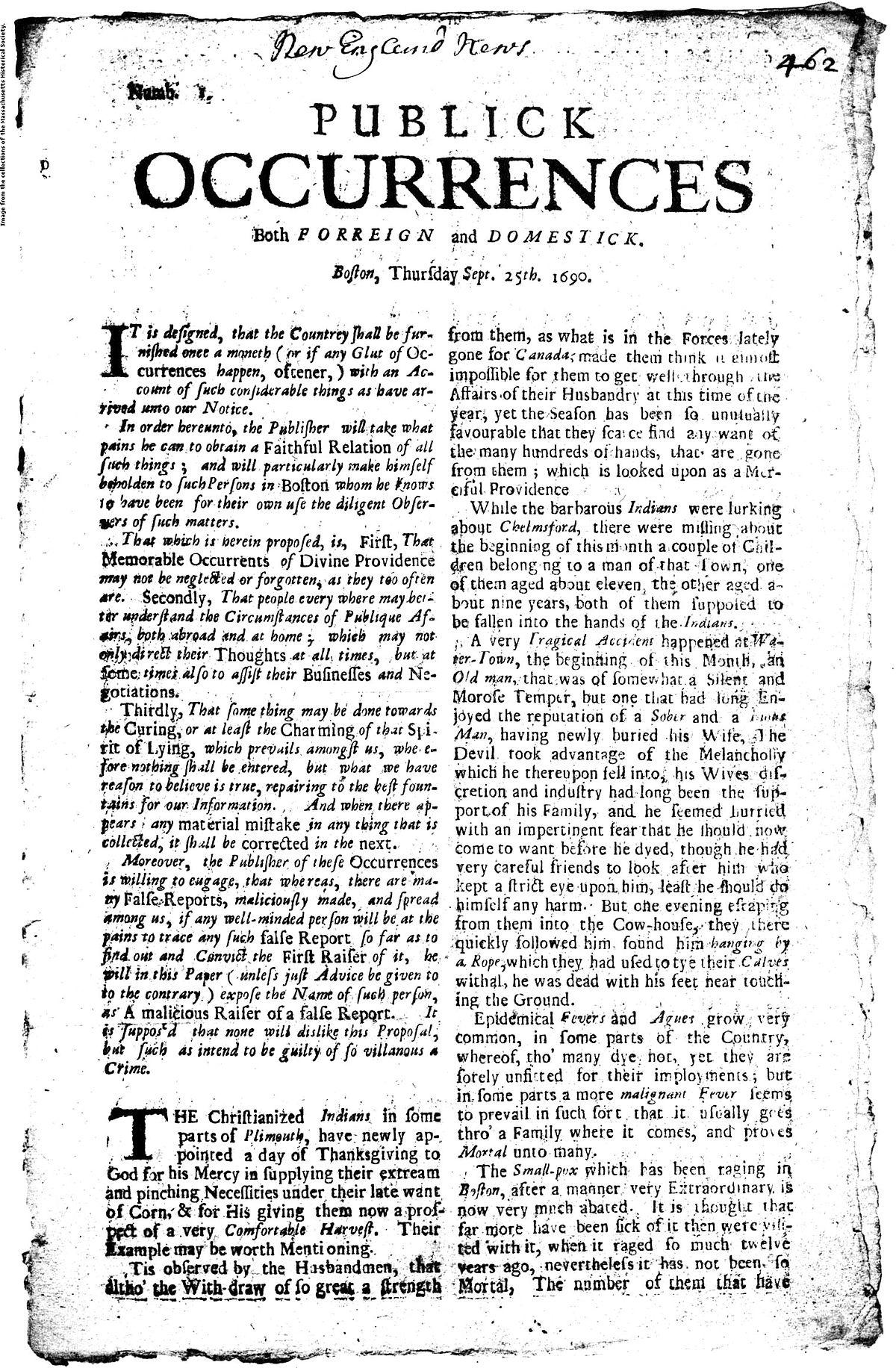 Geschichte der Zeitungen der Vereinigten Staaten – Wikipedia