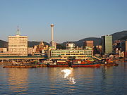 Busan Tower at sunset