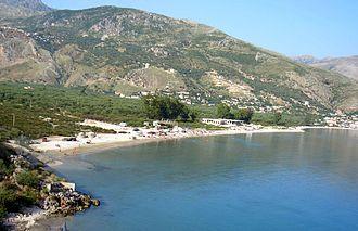 Qeparo - Qeparo village and the bay on the Ionian Sea