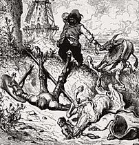 Don Quixote and his sidekick Sancho Panza, by Gustave Doré: their character contrasts are made manifest not only by their behavior, but their physical appearance.