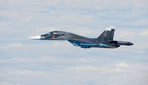 Sukhoi Su-34 - Su-34 intercepted by RAF over the Baltic in 2015