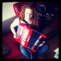 Rachel plays MIDI accordion, NYU Music Technology, 2012-06-25.jpg