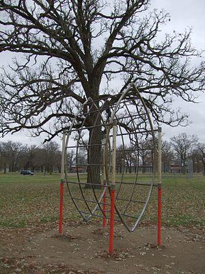 Cold War playground equipment - Image: Radar Climber, Riverside Park, Riverside, Iowa