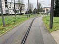 Rails Tramway IdF Ligne 6 Accès Site Maintenance - Vélizy-Villacoublay (FR78) - 2021-01-03 - 1.jpg