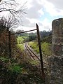 Railway Bridge and metal railing, Hook Bottom, Greenway Road - geograph.org.uk - 368931.jpg