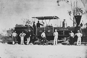 Queensland A10 Avonside class locomotive - Lady Bowen circa 1865