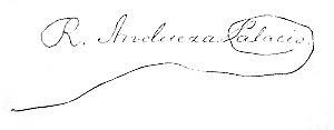 Raimundo Andueza Palacio - Image: Raimundo Andueza Palacio signature