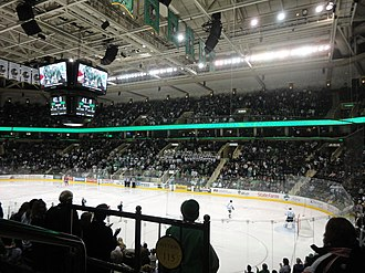 National Collegiate Hockey Conference - The Ralph Engelstad Arena is one of the largest arenas in college hockey.