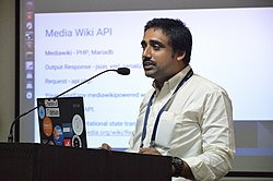 At presentation in Wiki Conference India, Mohali
