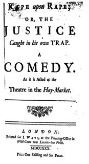 <i>Rape upon Rape</i> Play by Henry Fielding