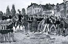 Ende der Revolution: Kapitulation der revolutionären Besatzung von Rastatt am 23. Juli 1849 (Quelle: Wikimedia)