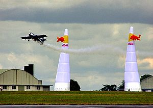 Red Bull Air Race World Championship - Action at Kemble Airport, Gloucestershire, England in June 2004