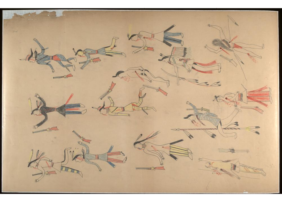 Red Horse pictographic account of the Battle of the Little Bighorn, 1881. 0000