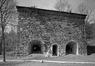 Estill County, Kentucky - Fitchburg furnace located in Estill County. Legacy of 19th century iron industry. Largest charcoal furnace in the world.
