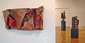 Welded sculpture - Sculptures by North Edmonton Sculpture Workshop artists Andrew French, Ryan McCourt, and Robert Willms.