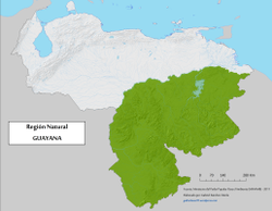 Guayana natural region - Wikipedia on guyana map with regions, map showing capital of brazil, 4 major natural regions, map showing the great basin, map of the guyana showing administrative regions,