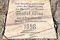 Reichenau Wiedweg Evang Pfarrkirche Gedenkstein 1898 23112012 485.jpg
