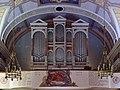 Reith bei Seefeld - Pfarrkirche hl Nikolaus - Empore mit Orgel und Kriegergedächtnisstätte - Johannes Obleitner 1948 1948.jpg