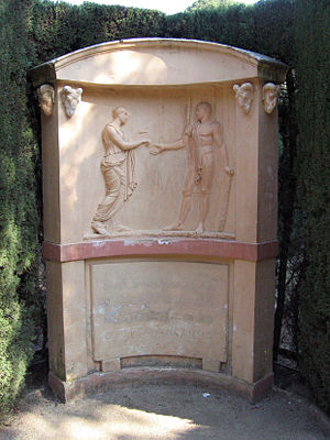 Relief of Ariadne and Theseus in the Parc del ...