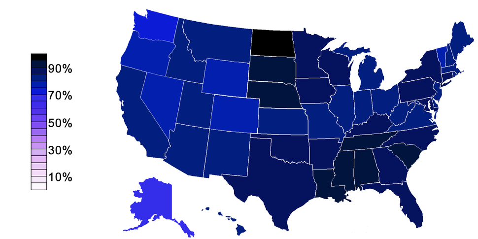 Religious Belief in USA-states