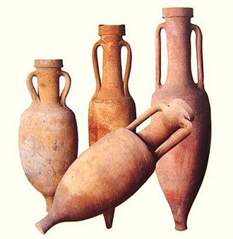 Country of origin - The distinctive shape and markings on amphorae provided consumers with information about the manufacturer and the place of origin for goods