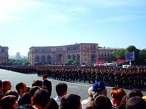 Republic Square, Yerevan - The independence parade in 2006