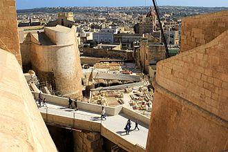 Cittadella (Gozo) - Restoration works at the Cittadella in 2015