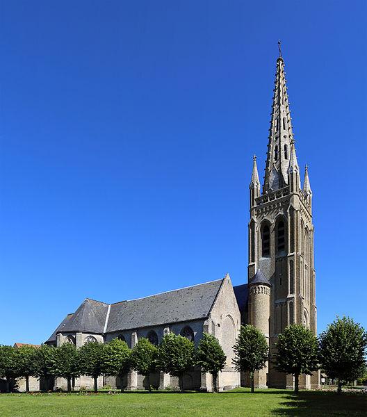 Rexpoëde (Département du Nord, France): St Omer's church
