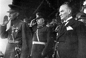 Treaty of Kars - Reza Shah and Mustafa Kemal Atatürk.
