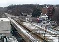Richmond Hill station from J train, December 2017.JPG
