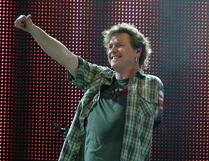 After losing his left arm in a car accident, drummer Rick Allen used his legs to do some of the drumming RickAllen.JPG