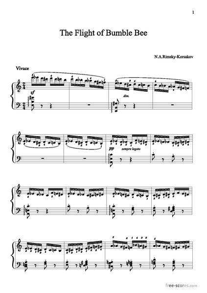 Flight of the bumblebee violin pdf