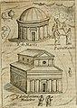 Ritratto di Roma antica - nel qvale sono figvrati i principali tempij, theatri, anfiteatri, cerchi, naumachie, archi trionfali, curie, basiliche, colonne, ordine del trionfo, dignita militari, e (14801615543).jpg