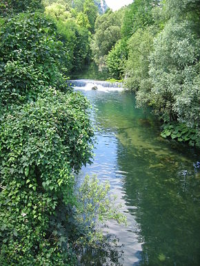 River Pliva in Jajce Bosnia.JPG