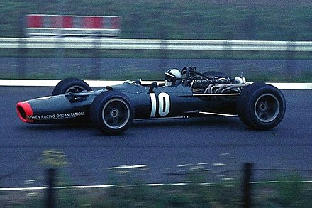Rodriguez in his BRM P133 during the 1968 German Grand Prix. Rodriguez, Pedro - BRM 1968.jpg