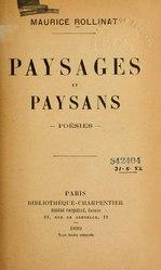 Maurice Rollinat: Paysages et paysans