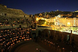 Roman Theater at night.JPG