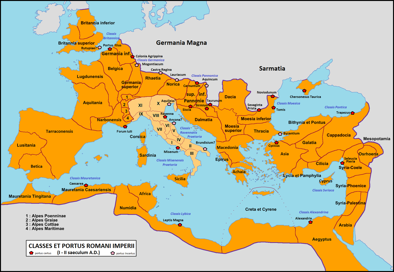 Roman Navy Wikiwand - Ancient rome map po river