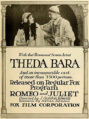 Romeo and Juliet (1916 Fox film) - Film poster