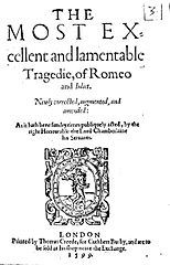 romeo and juliet essay title page