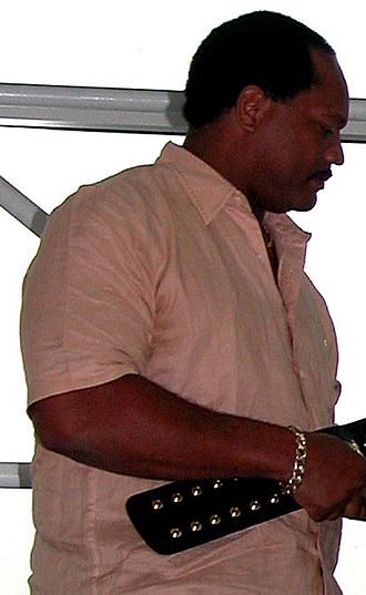 Ron Simmons - Simmons making a promotional appearance for WWE in 2005
