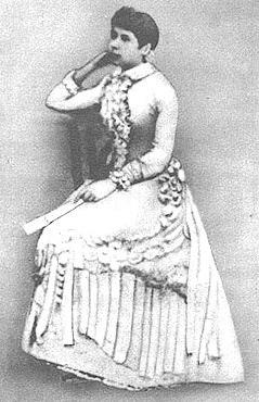 Rosalía ós vinte anos, posiblemente en Madrid en 1856-57.