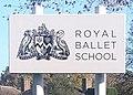 Royal Ballet School sign showing school badge.jpg