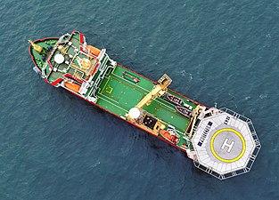 Royal Navy Antarctic Patrol Ship HMS Protector MOD 45153154.jpg